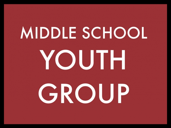 Middle School Youth Group Begins This Wednesday
